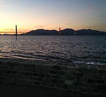 San Francisco Bay (Dusk) by danceswithwind