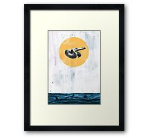 it's time to go, she said Framed Print