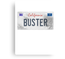 License Plate - BUSTER Canvas Print