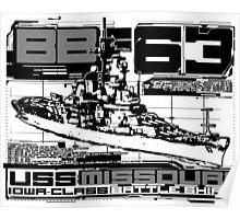 Battleship Missouri Poster