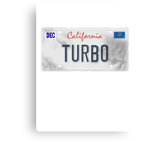 License Plate - TURBO Canvas Print