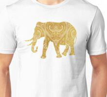 Golden Indian Elephant Unisex T-Shirt