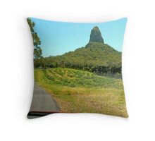 Driving to Crookneck Throw Pillow