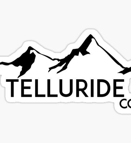 TELLURIDE COLORADO Ski Skiing Mountain Mountains Skiing Skis Silhouette Snowboard Snowboarding Sticker