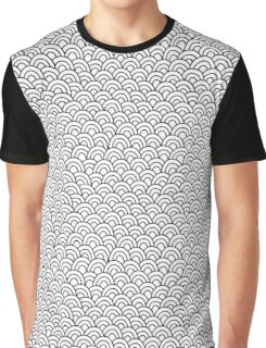 Abstract doodle seamless pattern. Hand drawn waves background. Graphic T-Shirt