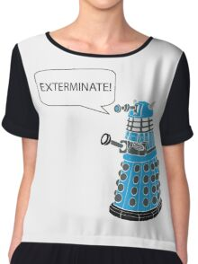 Dalek - Exterminate! Chiffon Top