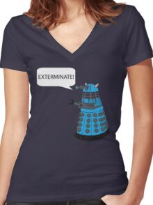 Dalek - Exterminate! Women's Fitted V-Neck T-Shirt