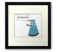 Dalek - Exterminate! Framed Print