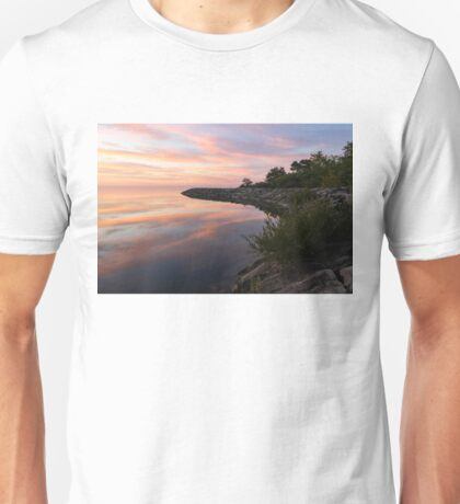 Colorful Cove - Still and Soft Dawn on Lake Ontario Unisex T-Shirt