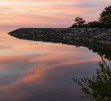 Colorful Cove - Still and Soft Dawn on Lake Ontario Sticker