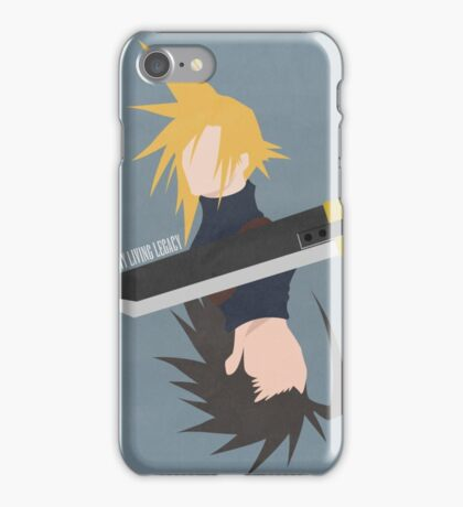 Cloud Strife / Zack Fair minimalistic iPhone Case/Skin
