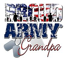 Proud Army Grandpa Photographic Print