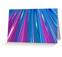 Blue and Purple Rays Greeting Card