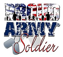 Proud Army Soldier Photographic Print