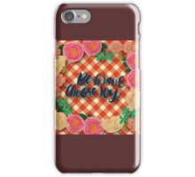 plaid,red,beige,vintage,country,rustic,worn,shabby chic, iPhone Case/Skin