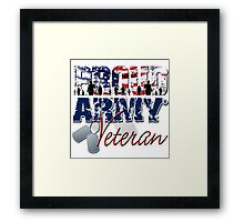 Proud Army Veteran Framed Print
