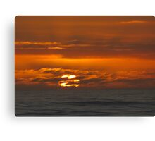 Mercurial seas at sunset Canvas Print