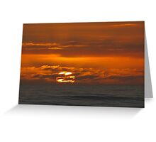 Mercurial seas at sunset Greeting Card