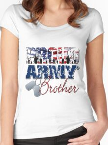 Proud Army Brother Women's Fitted Scoop T-Shirt