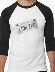 License Plate - LOWLIFE sideways Men's Baseball ¾ T-Shirt