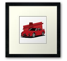 Mazda RX-7 (FD) (red) Framed Print