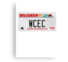 License Plate - WCEC Canvas Print