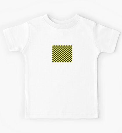 Checkered Black and Yellow Flag Kids Tee