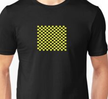 Checkered Black and Yellow Flag Unisex T-Shirt