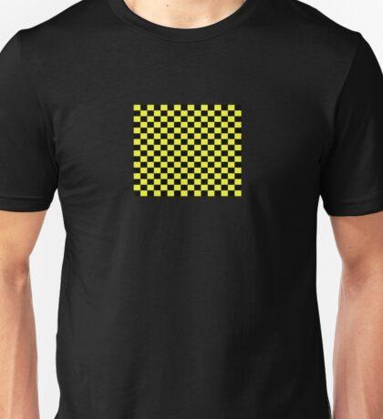 Checkered Black and Yellow Flag Unisex T-Shirt
