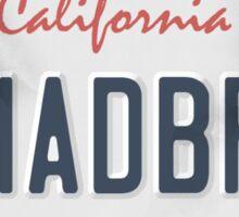 License Plate - umadbro Sticker