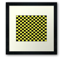 Checkered Black and Yellow Flag Framed Print