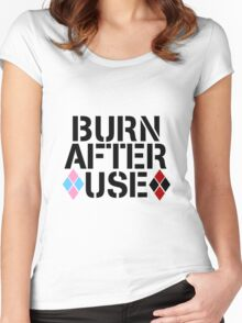 BURN AFTER USE Women's Fitted Scoop T-Shirt