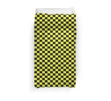 Checkered Black and Yellow Flag Duvet Cover