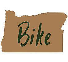 Bike Oregon - Tan Photographic Print