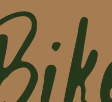 Bike Oregon - Tan Sticker