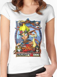 Jak & Daxter - Promo Poster Women's Fitted Scoop T-Shirt