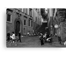 Street Scene, Oltrarno, Florence Canvas Print