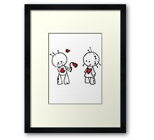 VooDude - Roses Are Red Framed Print