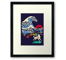 The Great Wave off Oni Island Framed Print