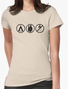 Festival Shirt: Tent, Alcohol, no Shower Womens Fitted T-Shirt