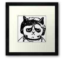 Grumpy Merkel Cat Framed Print