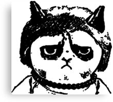 Grumpy Merkel Cat Canvas Print