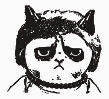 Grumpy Merkel Cat One Piece - Short Sleeve