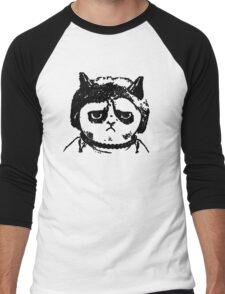 Grumpy Merkel Cat Men's Baseball ¾ T-Shirt