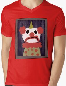Terrible Clown Painting Mens V-Neck T-Shirt