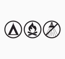 Pathfinder: Tent, Fire, no Shower Kids Clothes