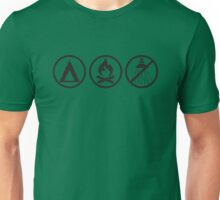Pathfinder: Tent, Fire, no Shower Unisex T-Shirt