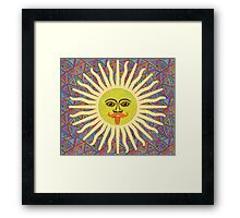 Sun Man Lads Framed Print