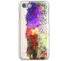 Edinburgh skyline in watercolor background iPhone Case/Skin