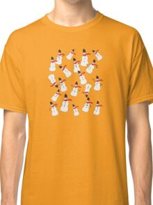 Prancing Snow People Classic T-Shirt